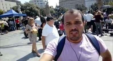 Repórter Laerte Cerqueira acompanha a repercussão do atentado em Barcelona - Laerte Cerqueira, comentarista político, está na Espanha estudando e está fazendo a cobertura dos atentados terroristas.