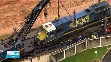 Trecho da linha 7-Rubi, da CPTM, passa o dia todo interditado - Descarrilamento de um trem de carga interrompeu por mais de 20 horas as viagem entre as estações Francisco Morato e Baltazar Fidélis.