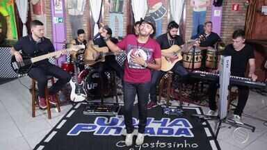 """Unha Pintada canta o sucesso """"Desculpe Amor"""" - O cantor também bateu um papo com o apresentador Menilson Filho."""
