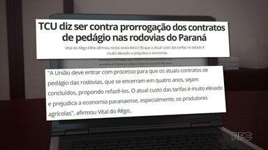 Ministro do TCU diz que é contra a prorrogação dos contratos de pedágio - Afirmação foi feita em visita ao Tribunal de Contas do Estado em Curitiba.