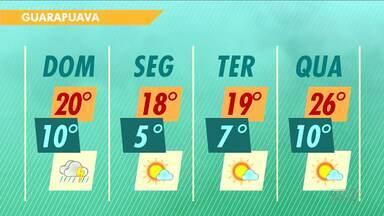 Domingo deve ser chuvoso em toda a região - Confira a previsão do tempo.