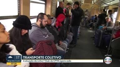 Trens da Linha-7 Rubi da CPTM funcionam normalmente nesta segunda-feira (21) - Linha liga Jundiaí, na Grande São Paulo, ao Centro da capital. Na sexta-feira (18), os passageiros enfrentaram o caos por causa de lentidão ocasionada por roubo de cabos entre Jundiaí e Francisco Morato.