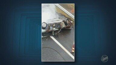Veículos pegam fogo em rodovias da região de Campinas nesta segunda-feira - Registros aconteceram em Jaguariúna e Sumaré.