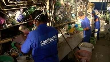 Ex-catadores de lixão reclamam de curso sem garantia de emprego em Olinda - Estão sendo oferecidas 73 vagas para as aulas, mas poucas pessoas compareceram.