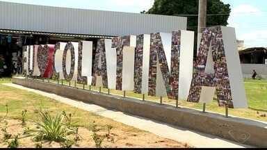 Letreiro enfeita o Centro de Colatina em comemoração pelo aniversário da cidade - Cidade completa 96 anos nesta terça-feira (22).
