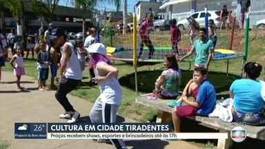 Praças da Cidade Tiradentes recebem shows, esportes e brincadeiras - O evento vai até às 17h deste sábado (26).