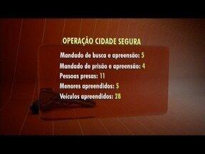 Polícia divulga balanço da Operação Cidade Segura - Ação foi realizada em 11 cidades da região.