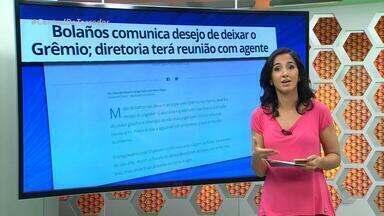 Bolaños comunica desejo de deixar o Grêmio - Clube terá reunião com empresário José Chamoro e até cogita emprestá-lo, desde que receba algum valor pela transferência.