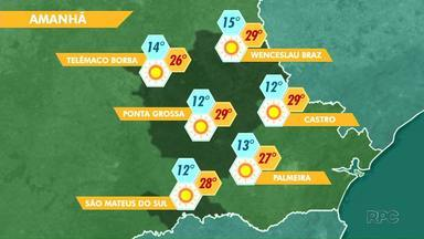 Previsão é de Sol para este domingo (27) em Ponta Grossa e região - Máxima em Ponta Grossa chega aos 29°.