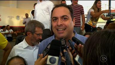 Paulo Câmara esteve neste sábado em Petrolina - Ele participou da inauguração de uma praça no bairro João de Deus