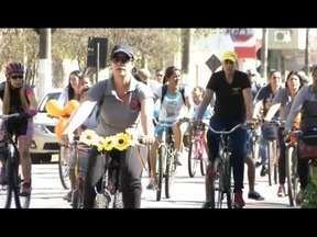 Passeio ciclístico em Timóteo reúne centenas de pessoas - Passeio favoreceu a interação entre professores, alunos e famílias.