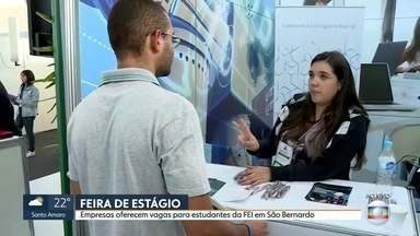Faculdade de Engenharia do ABC recebe feira de estágio - Vinte e quatro empresas do Brasil e multinacionais oferecem vagas de estágio e também de treinee.