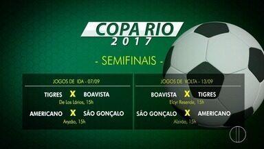 Confira a tabela dos jogos das semifinais da Copa Rio - Assista a seguir.