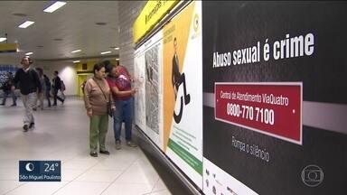 Tribunal de Justiça lança campanha para estimular denúncias contra assédio no transporte - Nesta terça-feira (29), uma jovem foi vítima de um abuso dentro de um ônibus. O agressor foi preso em flagrante. Ele já tinha cinco passagens por estupro e nunca foi a julgamento.