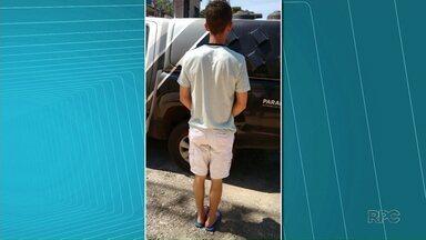 Rapaz que segundo a Polícia Civil assaltou posto de combustíveis em Maringá é preso - Polícia continua atrás de outro ladrão