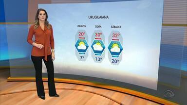 Tempo: amanhecer da quinta-feira (31) deve ser gelado na maior parte do RS - Assista ao vídeo.
