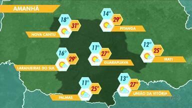 Tempo segue sem chuva em Guarapuava e região - Confira a previsão do tempo.
