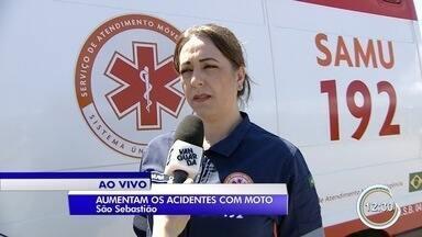Sete pessoas morreram neste ano em acidentes de moto em São Sebastião - Esse número é maior que todas as mortes registradas no ano passado