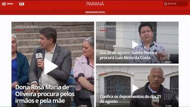 Segunda-feira é dia do Quadro Desaparecidos na Praça Santos Andrade - E hoje(04) mais uma família conseguiu se reencontrar depois de aparecer no quadro do Paraná TV