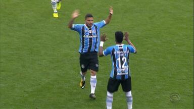 Grêmio goleia, chega perto do Corinthians e se prepara para próximas partidas - Assista ao vídeo.