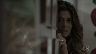 Bibi escuta Caio falando sobre namoro com Jeiza - Eurico diz para Silvana que o primo levou a namorada em sua casa para evitar assunto sobre a empresa