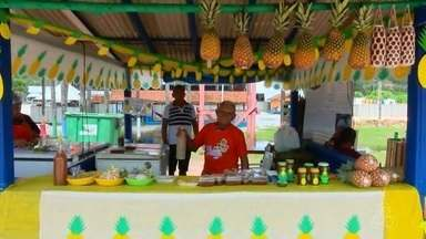 Festival do Abacaxi, no Amapá, apresenta uma variedade de receitas com a fruta - Produtos derivados movimentam famílias durante o festival. A programação terminou no domingo (10).