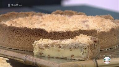 Torta de Paçoca - Ana Maria ensina a receita. Confira!