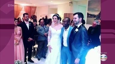 Thiaguinho invade casamento e faz surpresa para noivos - Promoção no site do cantor fez a alegria dos noivos e convidados