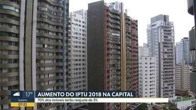 Maioria dos imóveis de SP terá IPTU reajustado em 3% pela inflação em 2018, diz Prefeitura - Cerca de 30% dos imóveis devem ter aumento acima da inflação por causa da revisão da Planta Genérica de Valores de 2013.