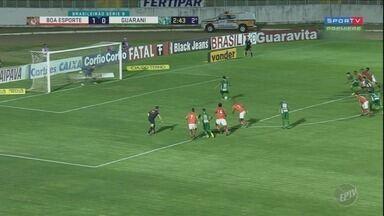 Guarani e Boa Esporte empatam pela Série B - Confira os quatro gols do jogo em Varginha.