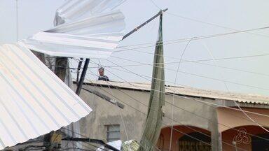 Criança fica ferida ao ser arremessada por ventos em Manaus - Caso ocorreu no bairro Armando Mendes 2, na Zona Leste de Manaus.