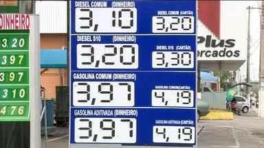 Preço da gasolina aumenta nos postos de Linhares, ES - Reajuste deixou o valor ainda maior.