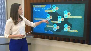 Tempo continua seco na região oeste até o fim do mês - Temperatura em Palotina deve chegar aos 36 graus nesta sexta-feira.