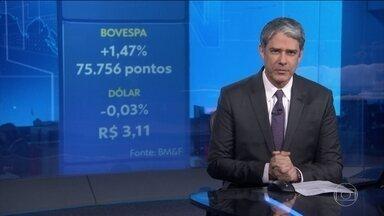 Principal índice da Bolsa de Valores de SP atinge novo recorde - Na semana, a alta foi de quase 4%. Dólar ficou estável em R$ 3,11.