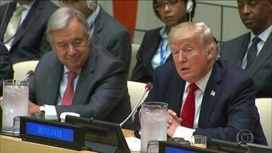 Trump faz primeiro discurso na Assembleia Geral da ONU como presidente dos EUA - Em discurso, Donald Trump fez diversos elogios à ONU, mas falou que a Organização gasta demais e que precisa de uma reforma.