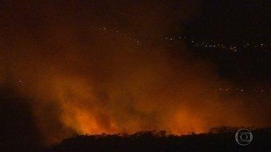 Incêndio atinge mata em frente a aeroporto, em Confins, na Grande BH - De acordo com a BH Airport, a operação do terminal não foi alterada.