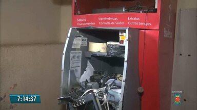 Caixa eletrônico da STTP é explodido em Campina Grande, no Agreste da Paraíba - Gaveta com dinheiro foi levada. Carro usado na ação foi incendiado próximo ao aeroporto.
