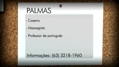 Confira as vagas de emprego desta terça-feira (19) para Palmas, Porto Nacional e Gurupi - Confira as vagas de emprego desta terça-feira (19) para Palmas, Porto Nacional e Gurupi