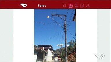 Moradores de Cachoeiro, no ES, relatam problemas na iluminação pública - No bairro Otto Marins, a lâmpada fica acessa dia e noite. Já no aeroporto, lâmpada está apagada há oito dias.