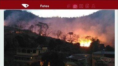 Telespectadores enviam imagens de incêndio em Marbrasa, em Cachoeiro de Itapemirim - Telespectadores enviam imagens de incêndio em Marbrasa, em Cachoeiro de Itapemirim.