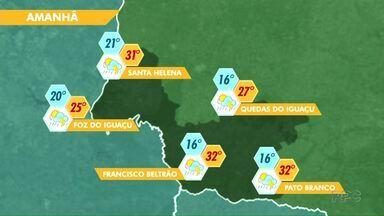 Tempo deve seguir quente na região - Veja a previsão no mapa.