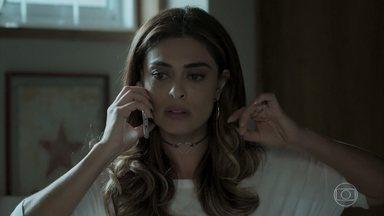 Bibi faz ligação na casa de Silvana e é rastreada por Caio - A arquiteta abriga a esposa de Rubinho em sua casa. Dantas mostra a notícia sobre a fuga de Bibi para Eurico