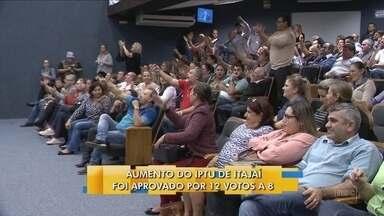 Vereadores de Itajaí aprovam reajuste do IPTU em 15% ao ano até chegar em 150% - Vereadores de Itajaí aprovam reajuste do IPTU em 15% ao ano até chegar em 150%