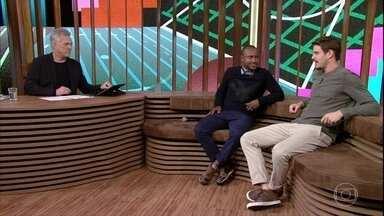 Thiaguinho e Bruninho contam como se conheceram - Bial questiona os convidados sobre amizade com Neymar