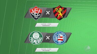 Vitória enfrenta o Sport e Bahia joga contra o Palmeiras; as partidas acontecem na quinta - Confira as notícias dos times baianos.