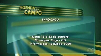 Confira a agenda do campo para esta semana em Goiás - Expocaçu acontece entre os dias 15 e 22 de outubro.