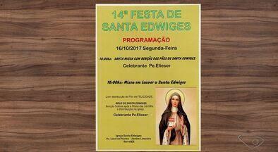 Veja as festas e eventos do interior do ES - Neste domingo (15) acontece a 14ª festa de Santa Edwiges, em Jardim Limoeiro, na Serra.