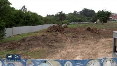 Terreno no Jardim Guedala vira alvo de disputa entre construtora, vizinhos e MP - Uma construtora comprou para erguer um condomínio na área, mas a vizinhança está protestando. O Ministério Público contestou na Justiça a derrubada de árvores do lugar e a compensação ambiental.