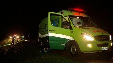 Homem morre atropelado na BR-277 - O motorista que atropelou a vítima, fugiu do local.