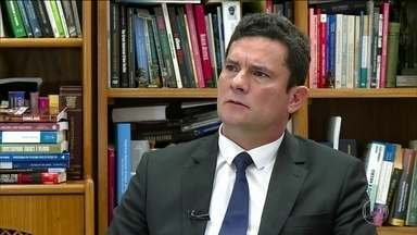Moro não vê riscos para a continuidade do combate à corrupção no Brasil - Juiz Sérgio Moro concedeu entrevista exclusiva ao jornalista Gerson Camarotti, na GloboNews.